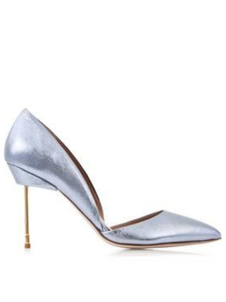 Kurt Geiger London Beaumont Metallic Court Shoes - Blue