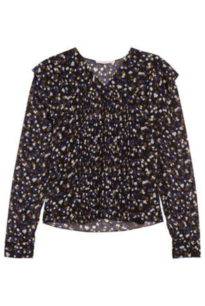 See by Chloé - Printed Crepe De Chine Blouse - Blue