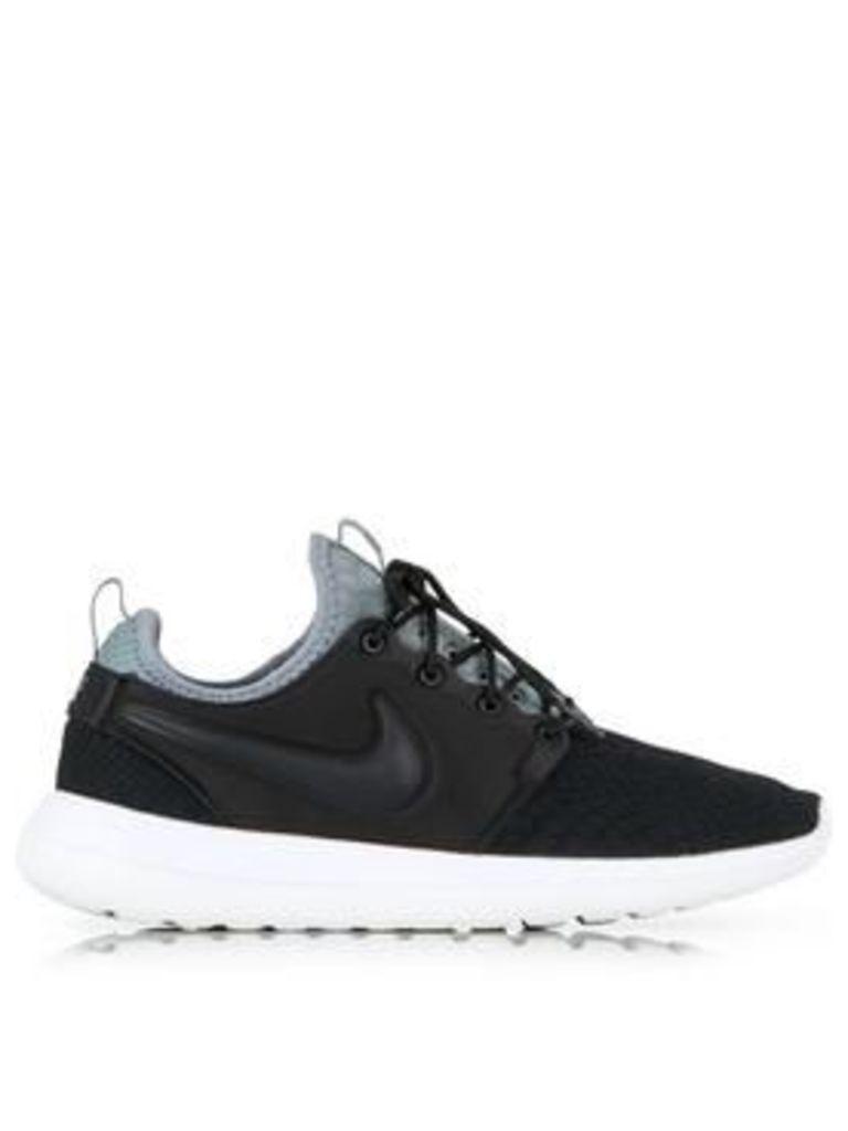 Nike Roshe Two Se Snake Print Trainers - Black