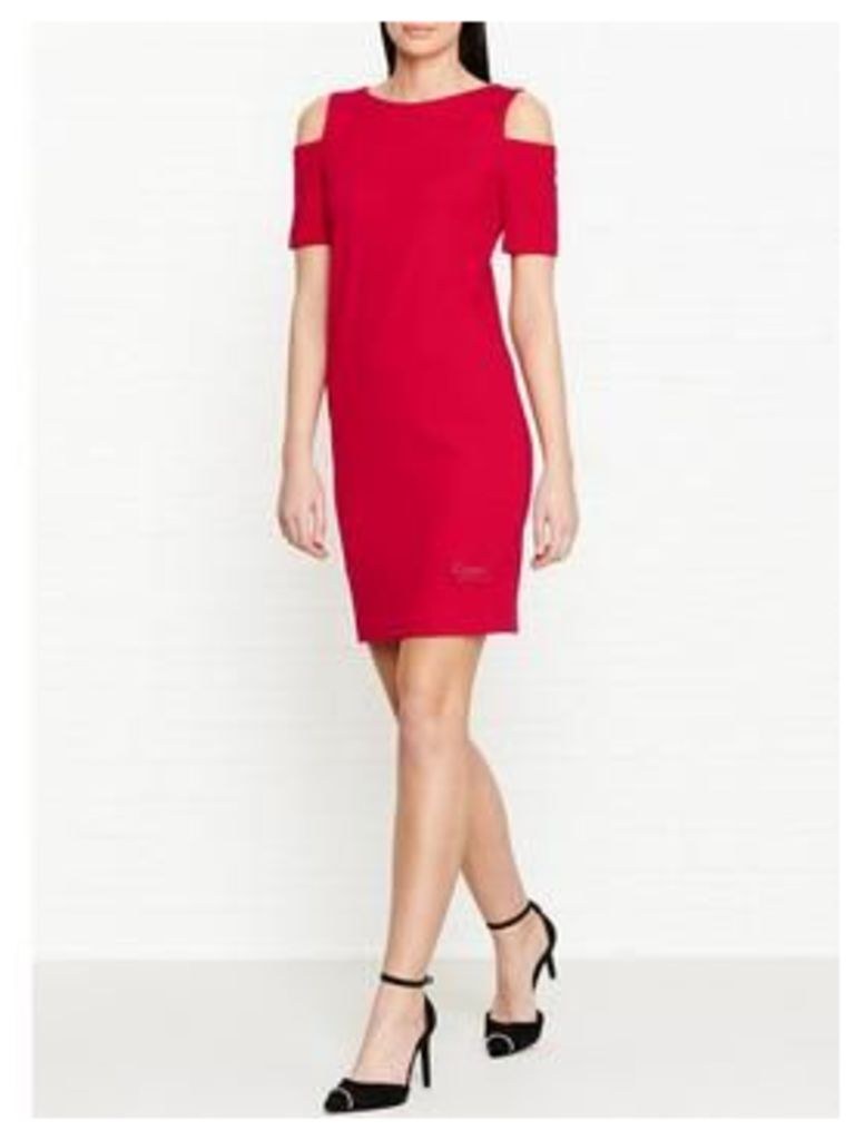 Love Moschino Cold Shoulder Fitted Dress - Red