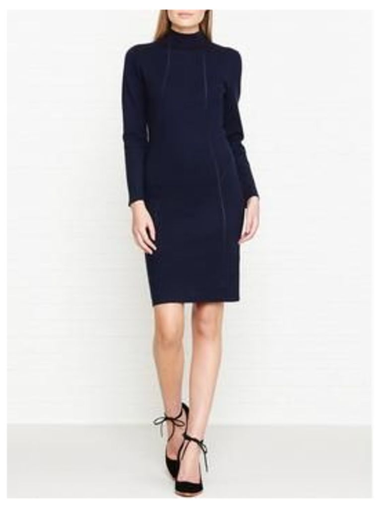 Reiss Daphne Bodycon Knitted Dress - Navy