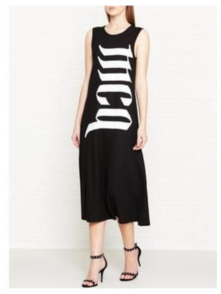 Mcq Alexander Mcqueen Flared Logo Tank Dress - Black