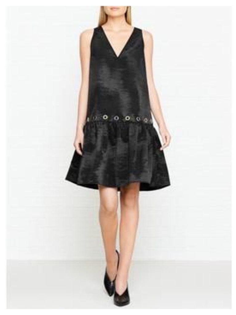 Kenzo Eyelet Detail Sleeveless Dress - Black