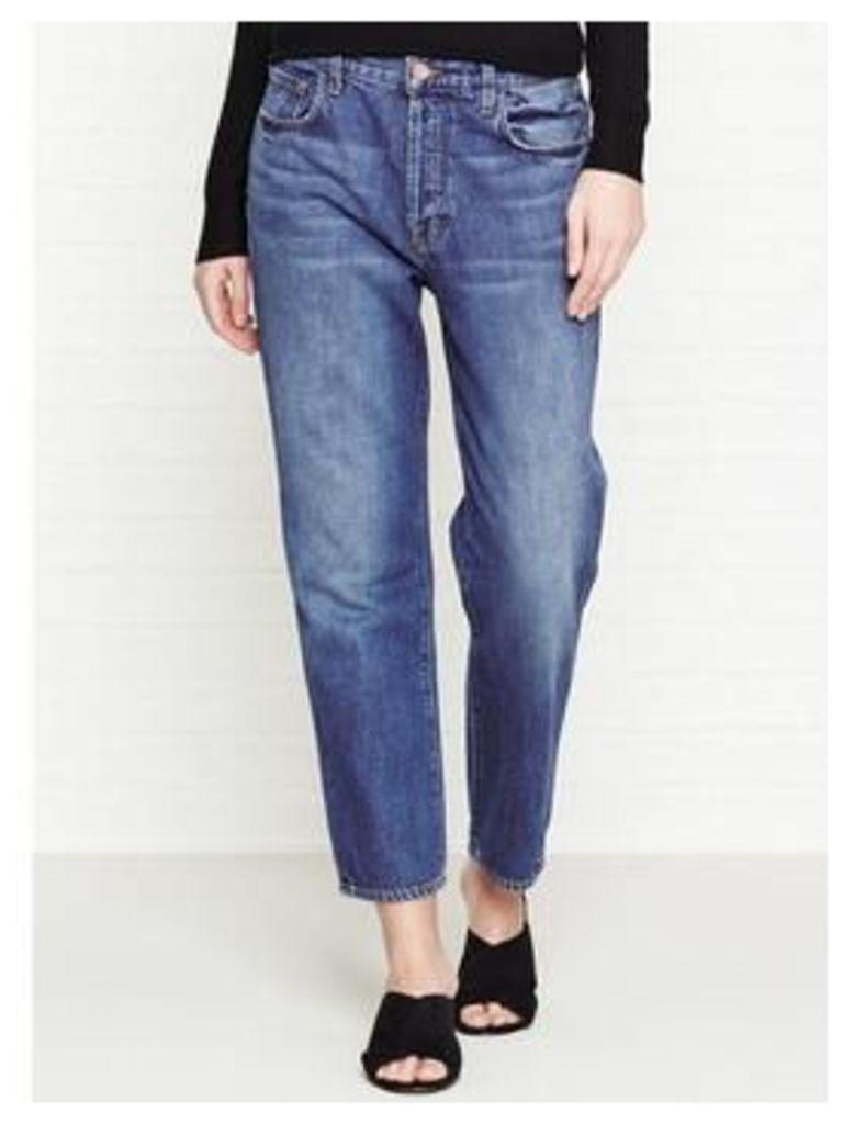 J Brand Ivy High Rise Crop Straight Boyfriend Jeans - Entice