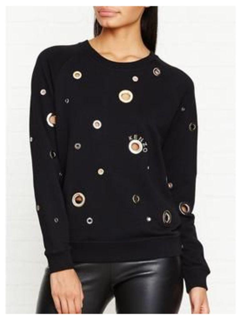 Kenzo Eyelet Sweatshirt - Black