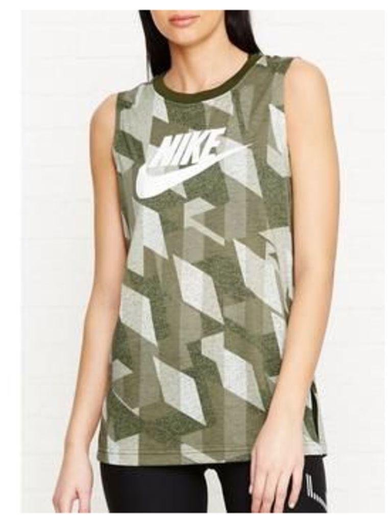 Nike Sportswear Skyscraper Muscle Tank - Green