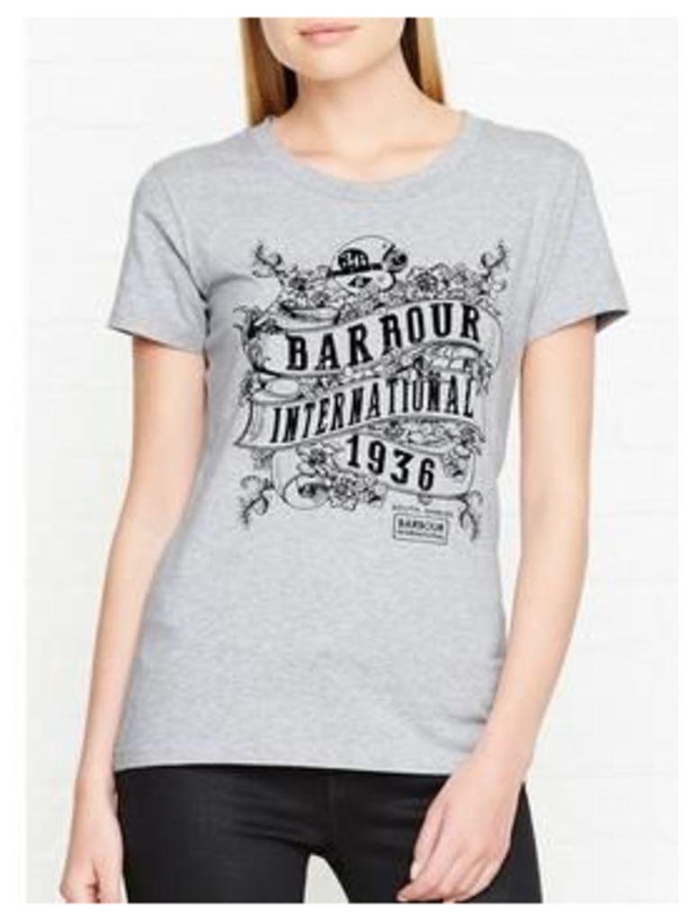 Barbour International International Riser Logo T-Shirt - Grey