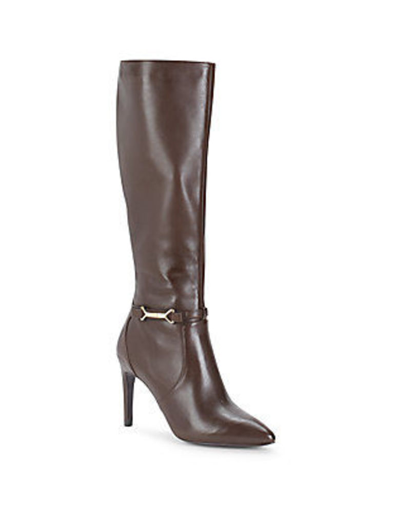 Loveth Chestnut Leather Boot