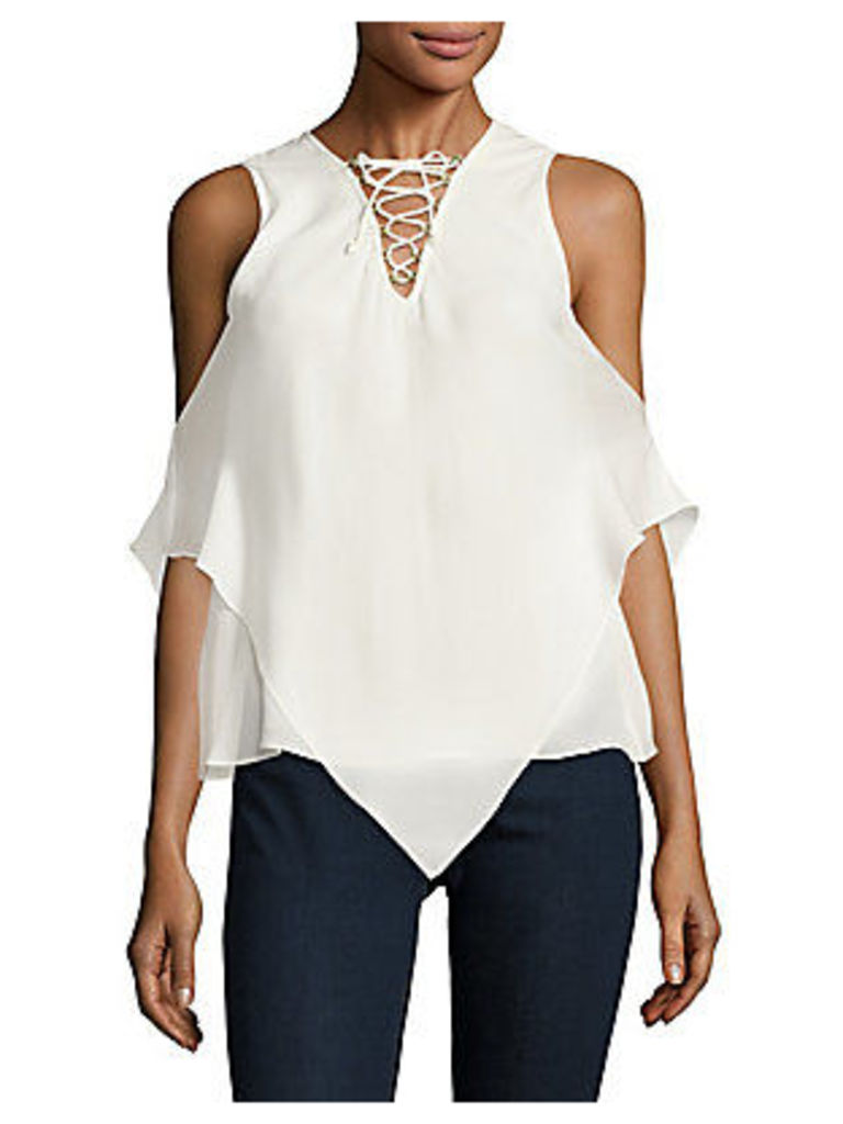 Han Lace-Up Silk Top