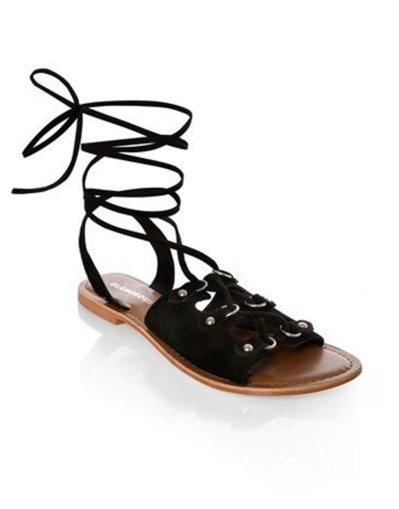 Glamorous Suede Lace-up Sandal