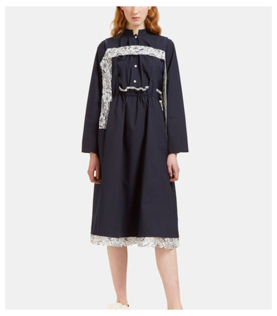 Oversized Lace Detailed Overall Dress