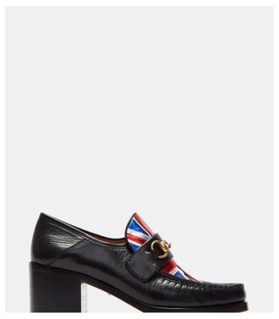 Mid Heel Union Jack Moccasin Shoes