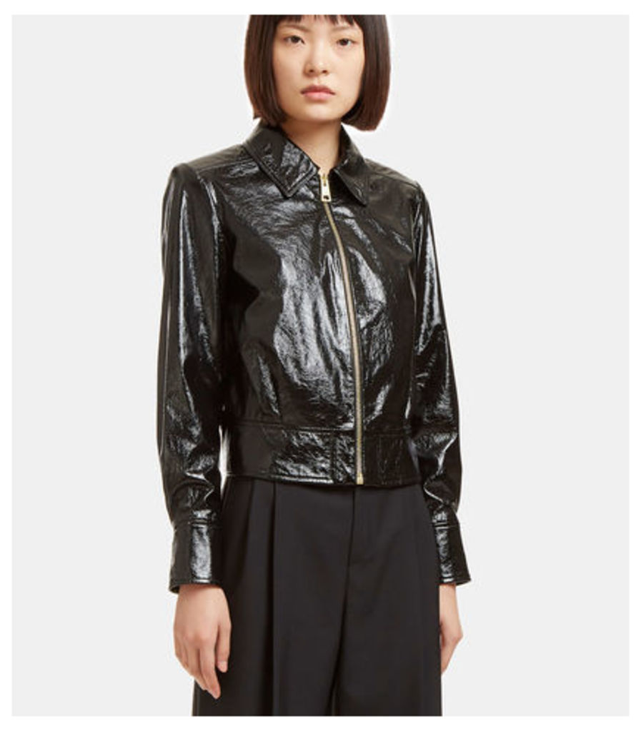 Cracked Patent Leather Jacket