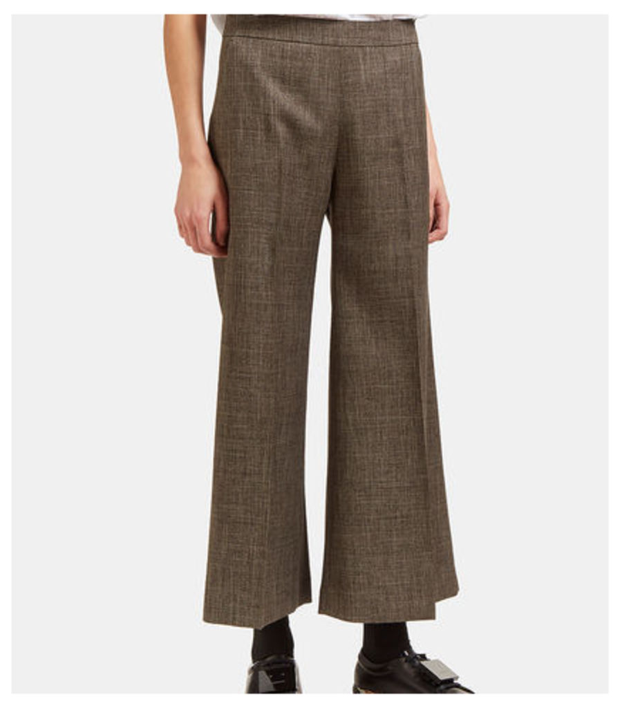 Isa Checked Wide Cropped Culottes