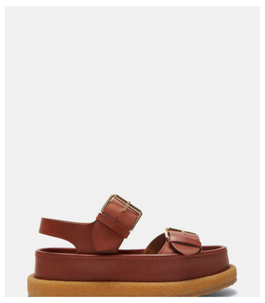 Double Buckled Platform Sandals