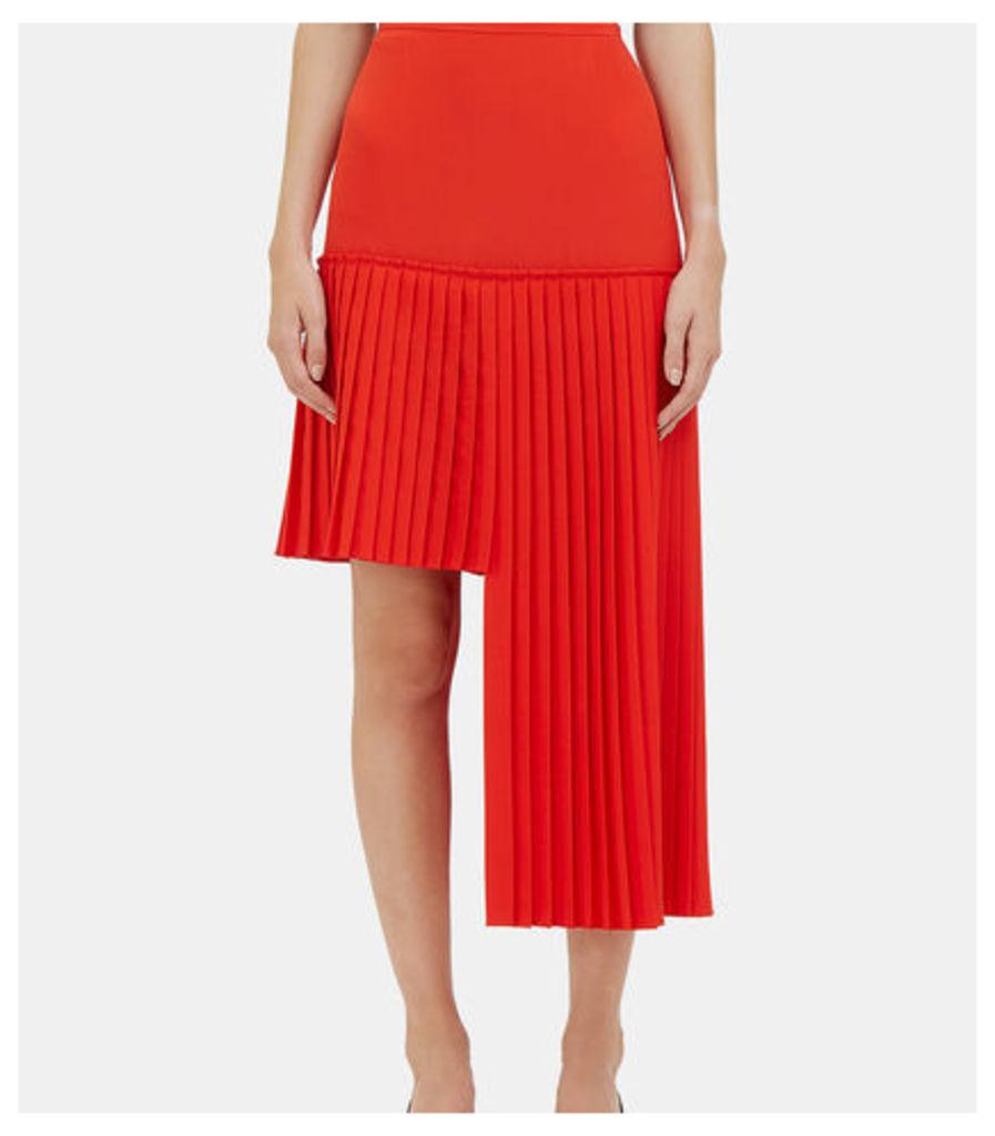 Arianna Asymmetric Pleated Skirt