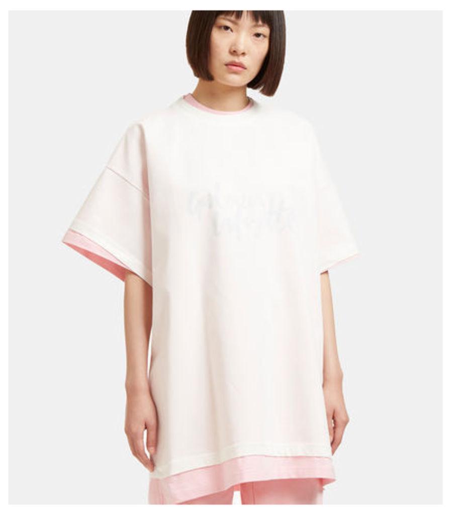 Hanes Galeries Lafayette Oversized Double T-Shirt
