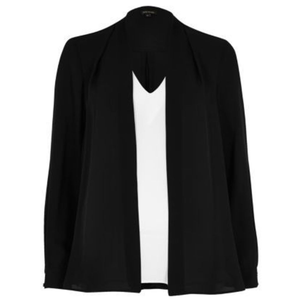 River Island Womens Black and white 2 in 1 blouse