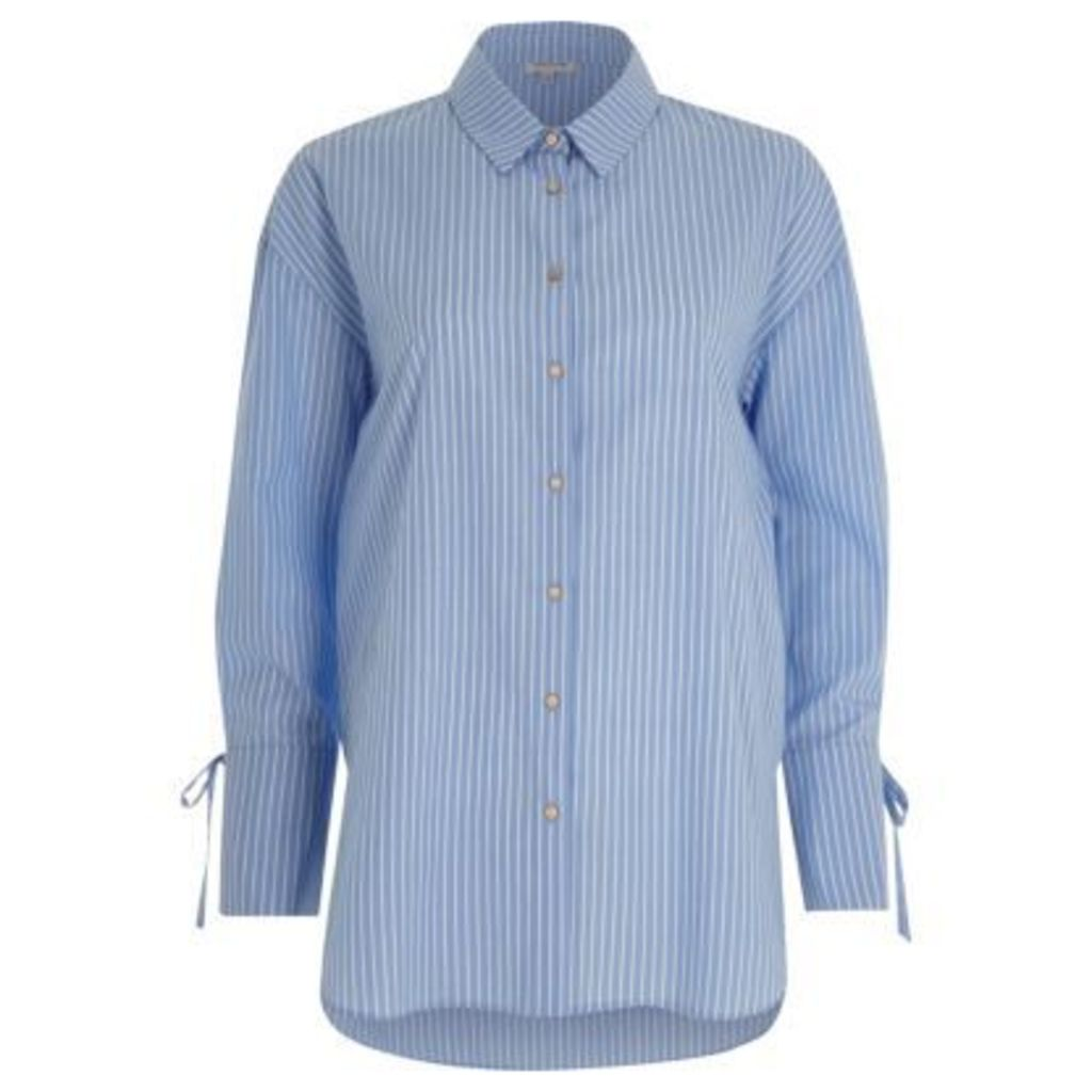 River Island Womens Blue stripe print shirt