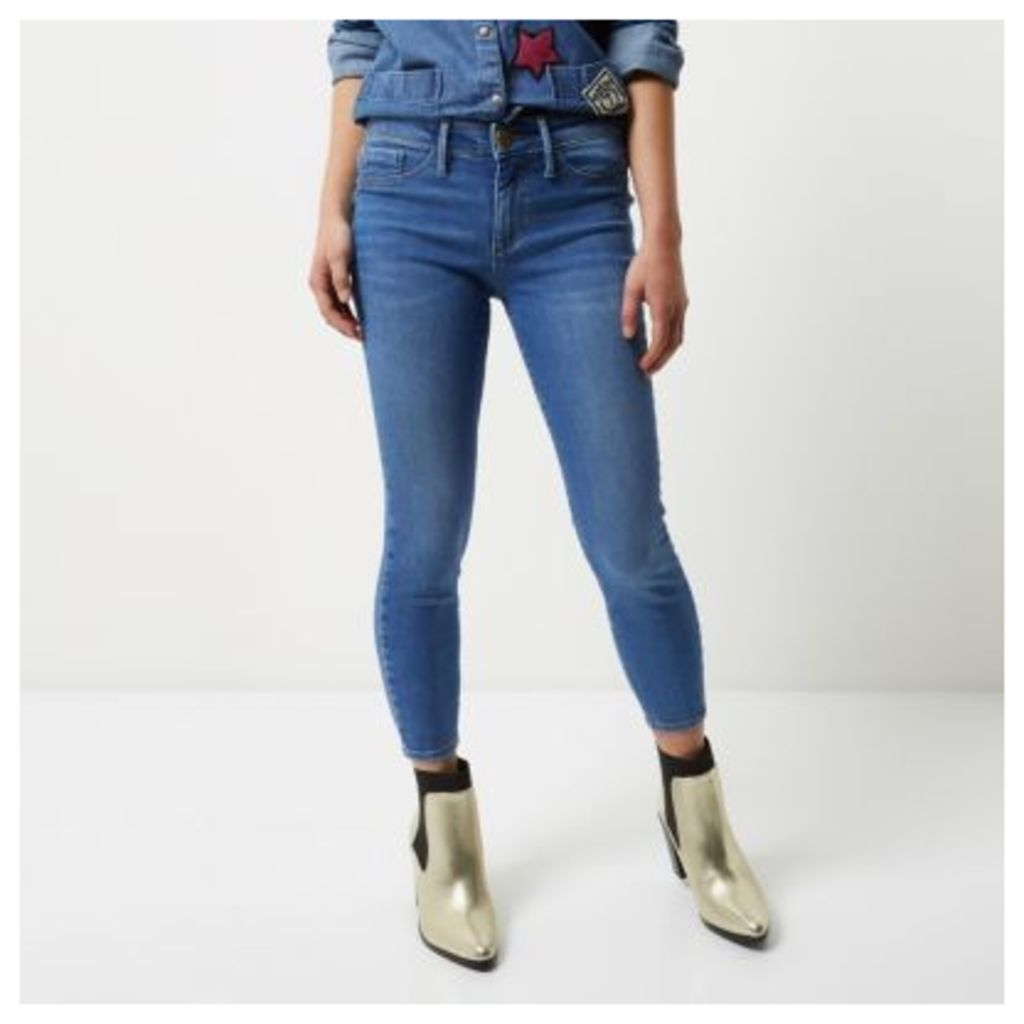 River Island Womens Petite mid Blue wash Molly jeggings