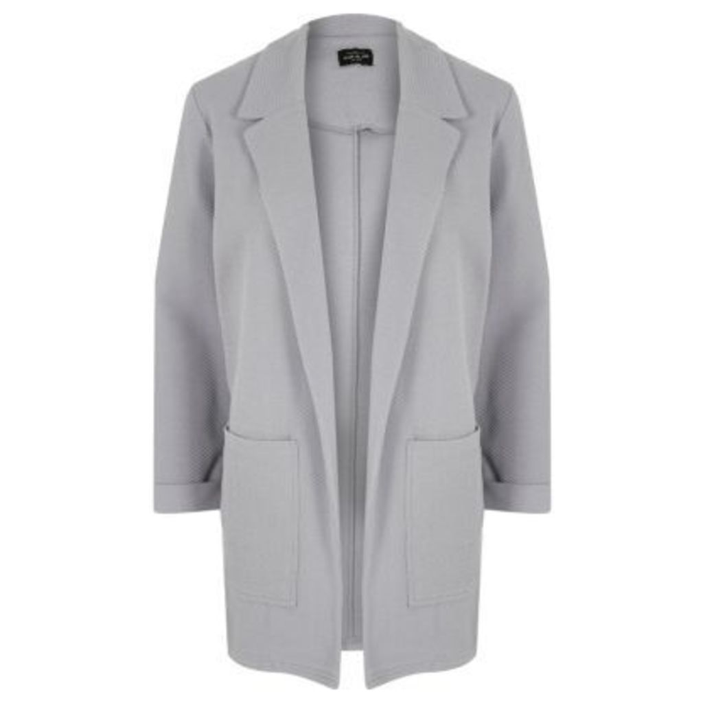 River Island Womens Light Grey textured cardigan jacket