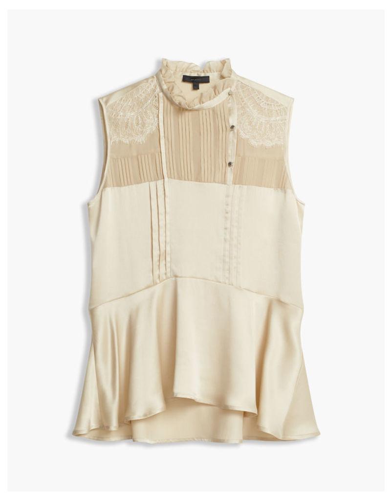 Belstaff Julie Peplum Shirt Cappucino