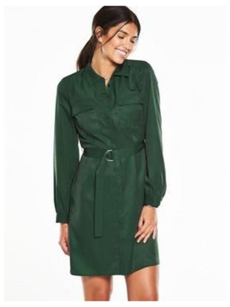 V by Very Shirt Dress - Green, Green, Size 22, Women