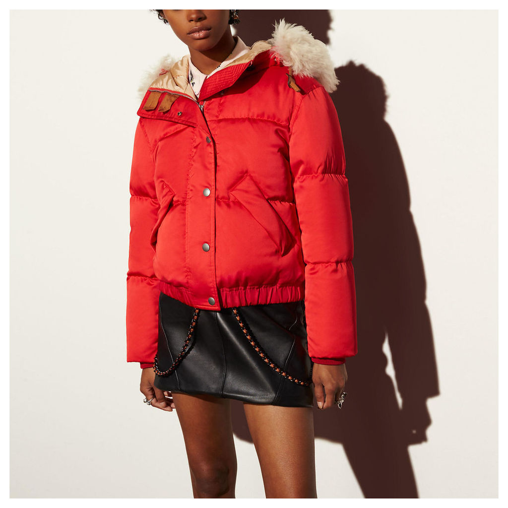 Coach Icon Puffer Jacket With Shearling