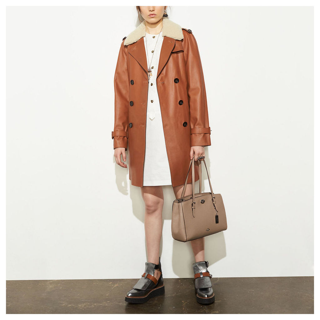 Coach Icon Leather Trench