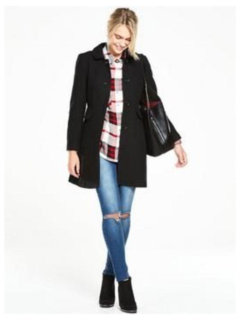 V by Very Dolly Skater Coat, Green, Size 18, Women