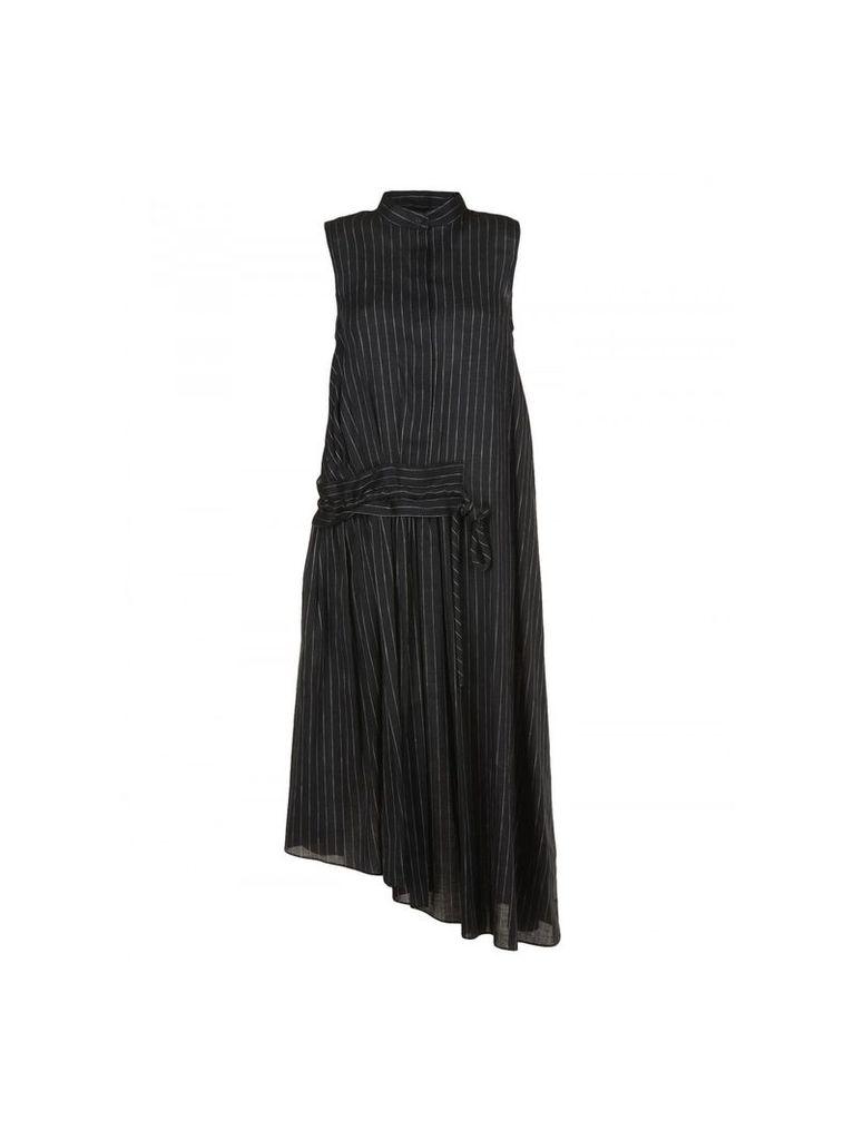 V Victoria Beckham Linen And Cotton Dress