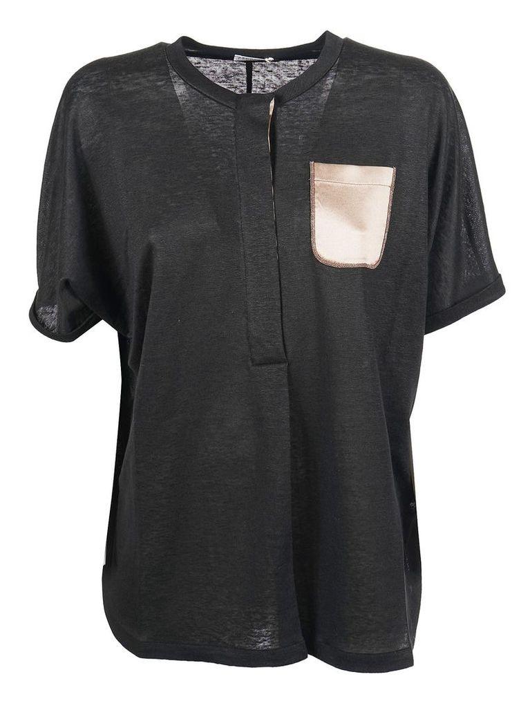 Brunello Cucinelli Silk Pocket T-shirt
