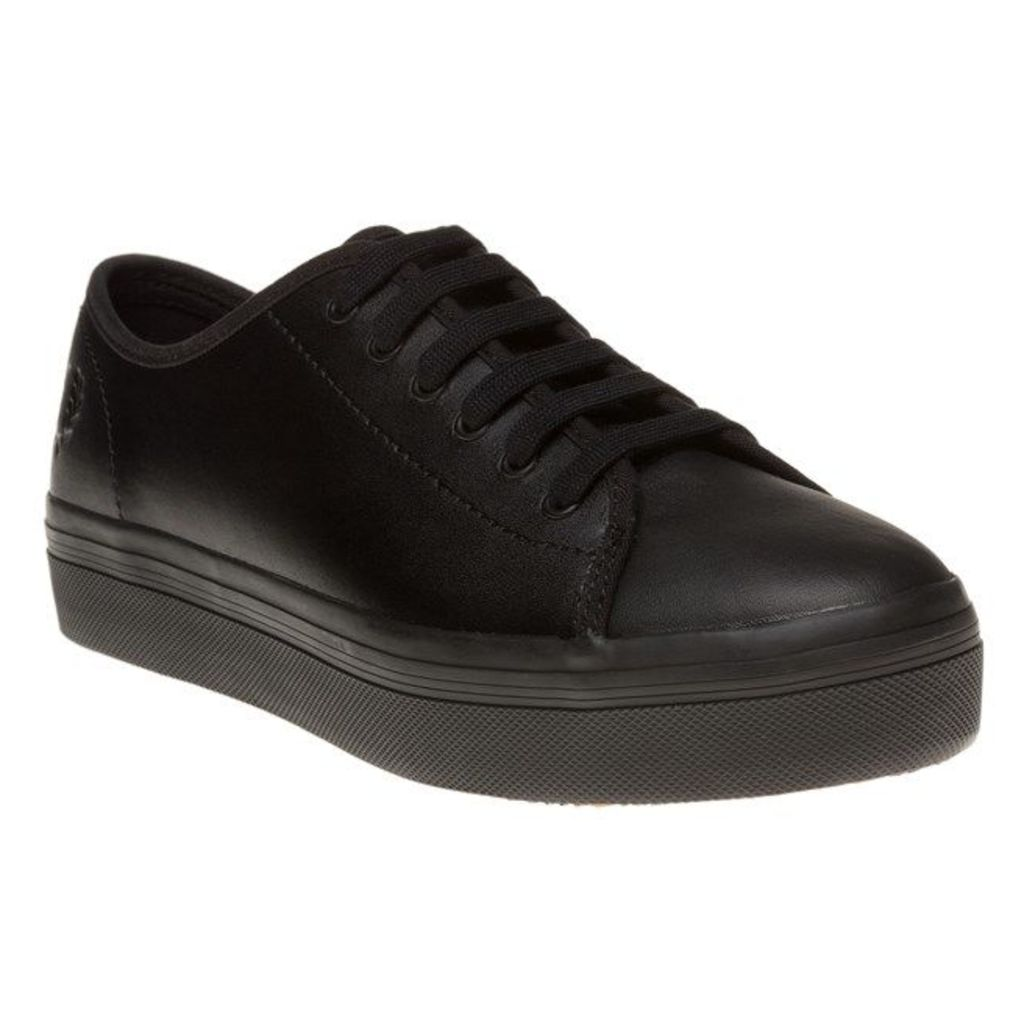Fred Perry Phoenix Flatform Trainers, Black
