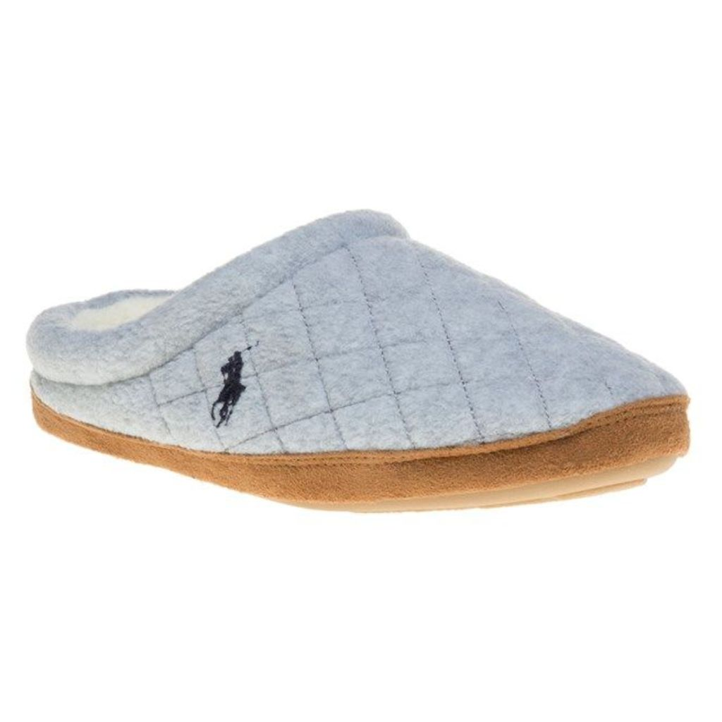 Polo Ralph Lauren Jacque Quilt Scuff Slippers, Grey