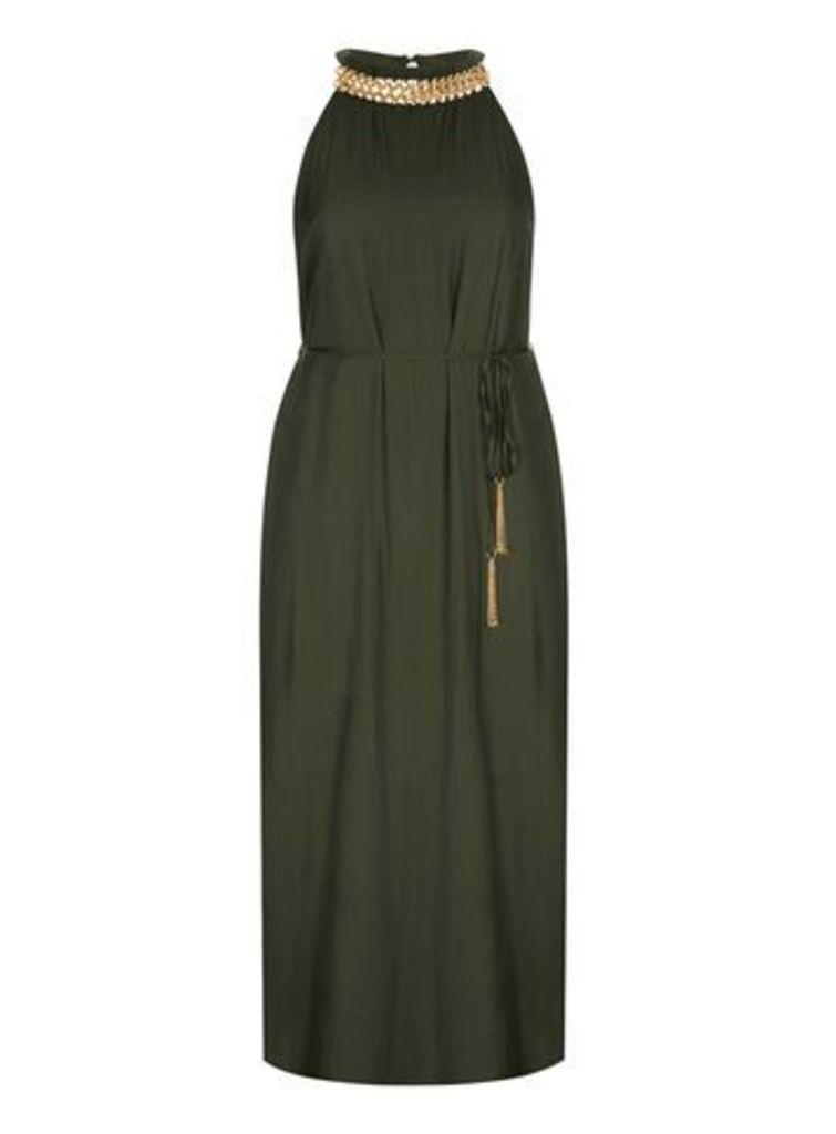 City Chic Olive Maxi Dress, Olive