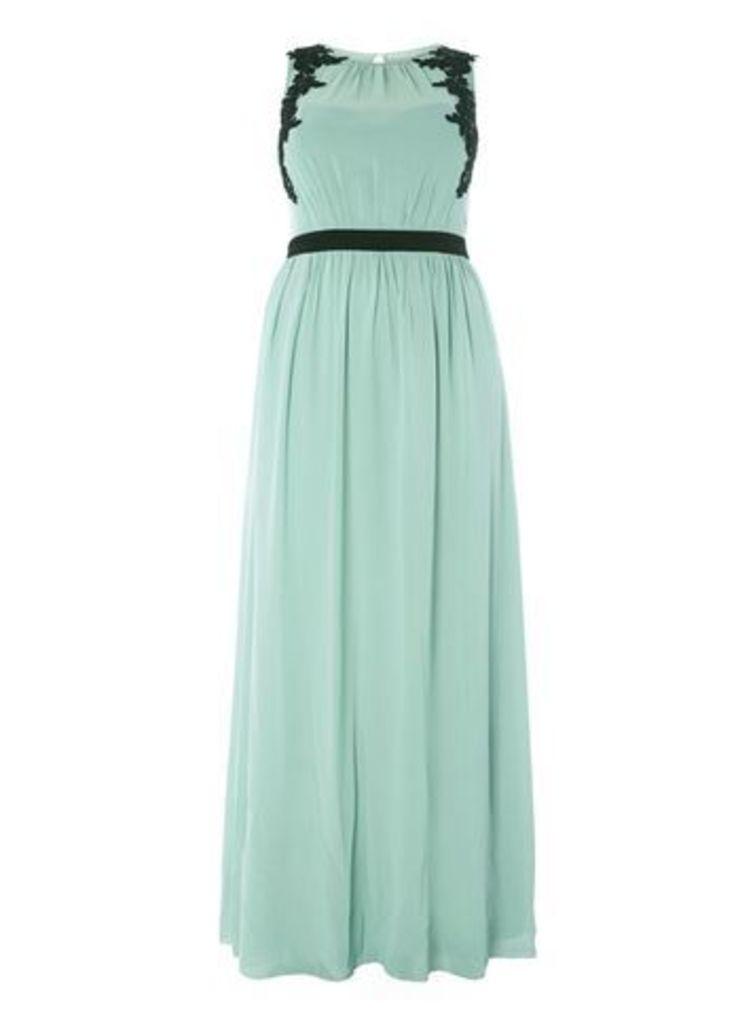 Little Mistress Pale Green Maxi Dress, Sage