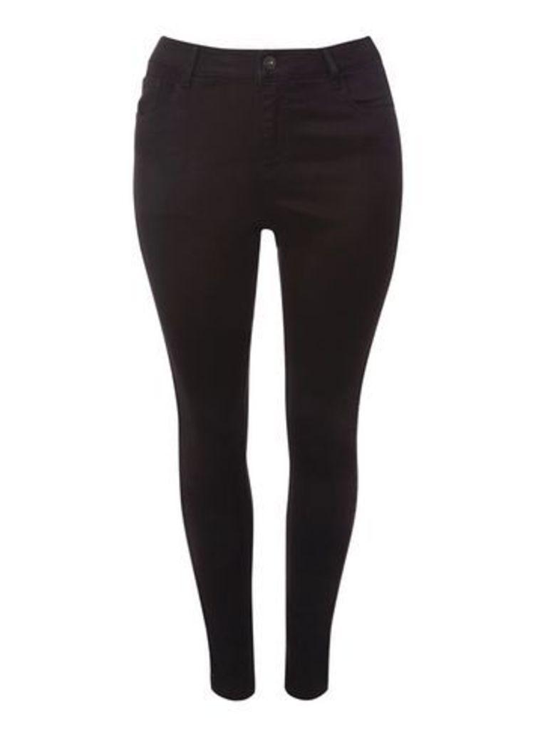 Black Sequin Skinny Jeans, Black
