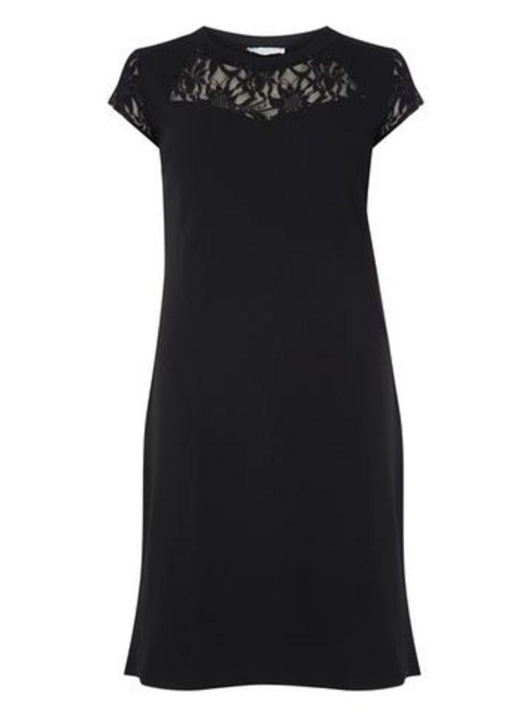 Gemma Collins Black Lace Midi Dress, Black