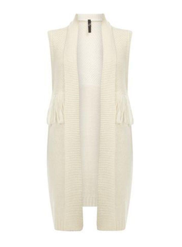 Ivory Fringed Waistcoat, Ivory