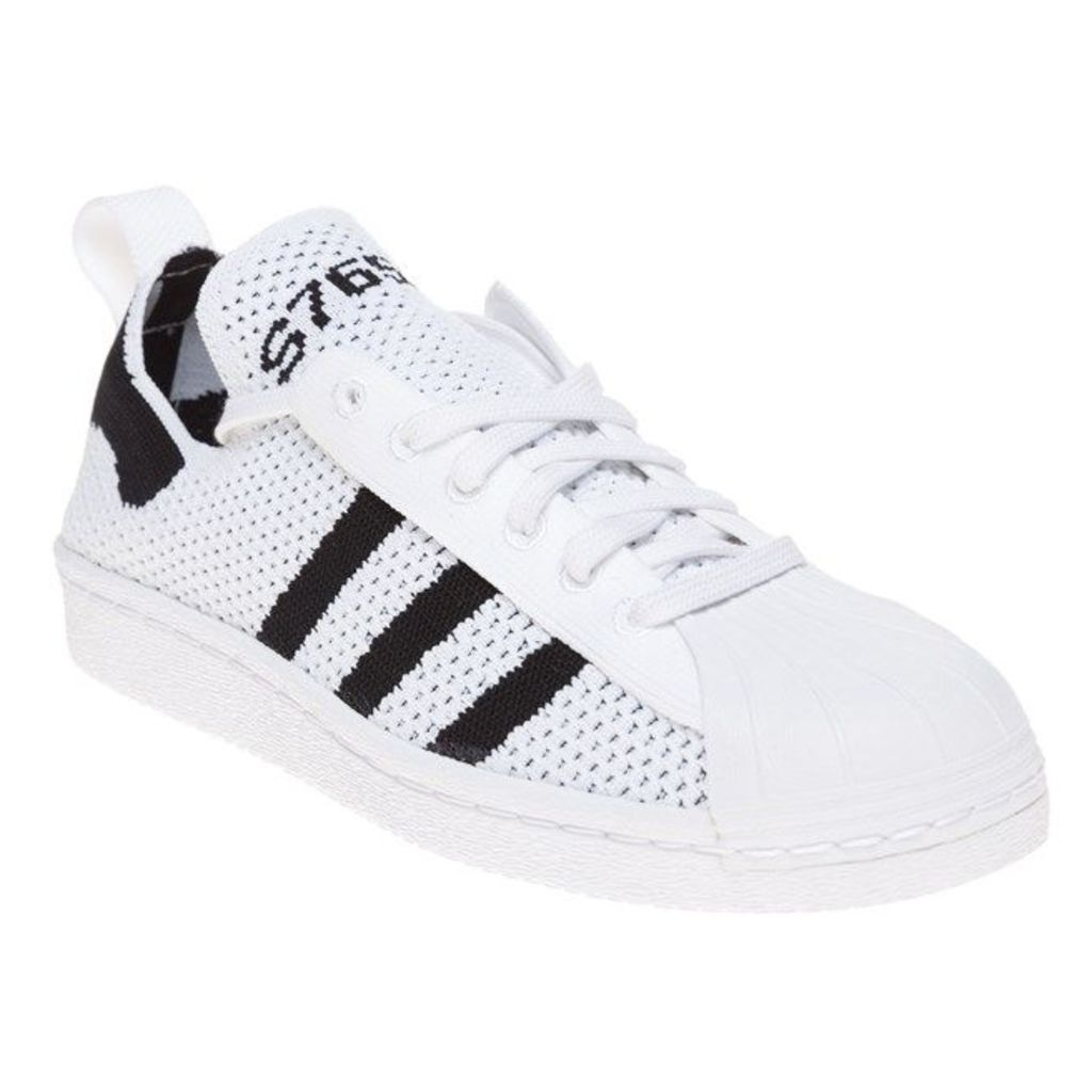 adidas Superstar 80's Primeknit Slip-On Trainers, Ftwr White
