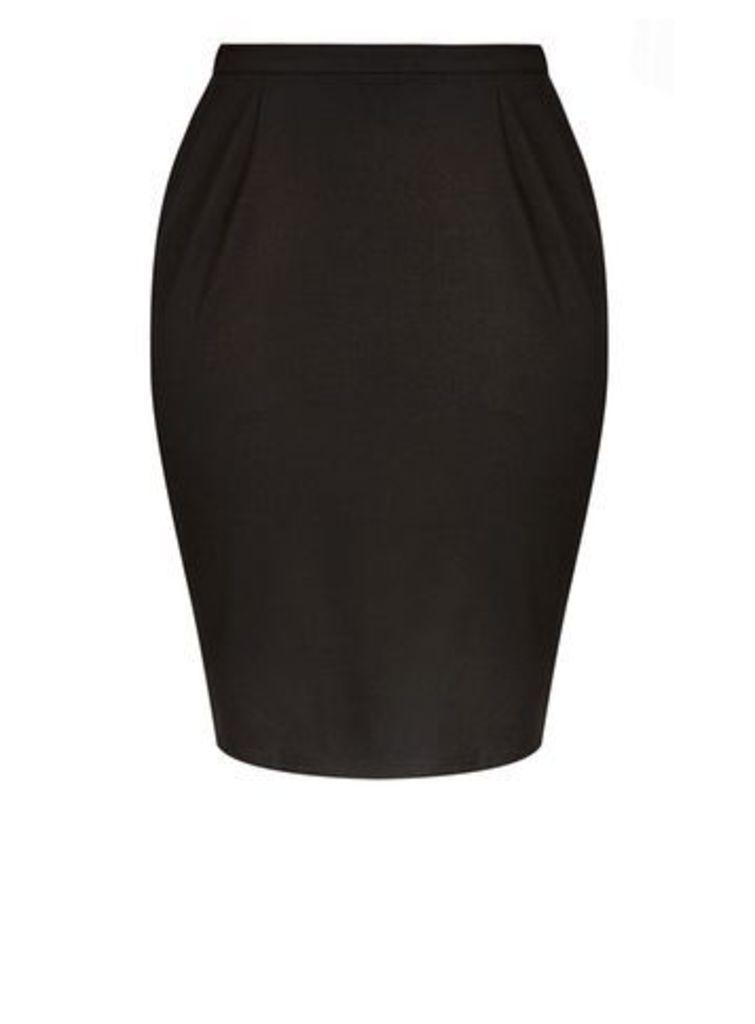 City Chic Black Pencil Skirt, Black