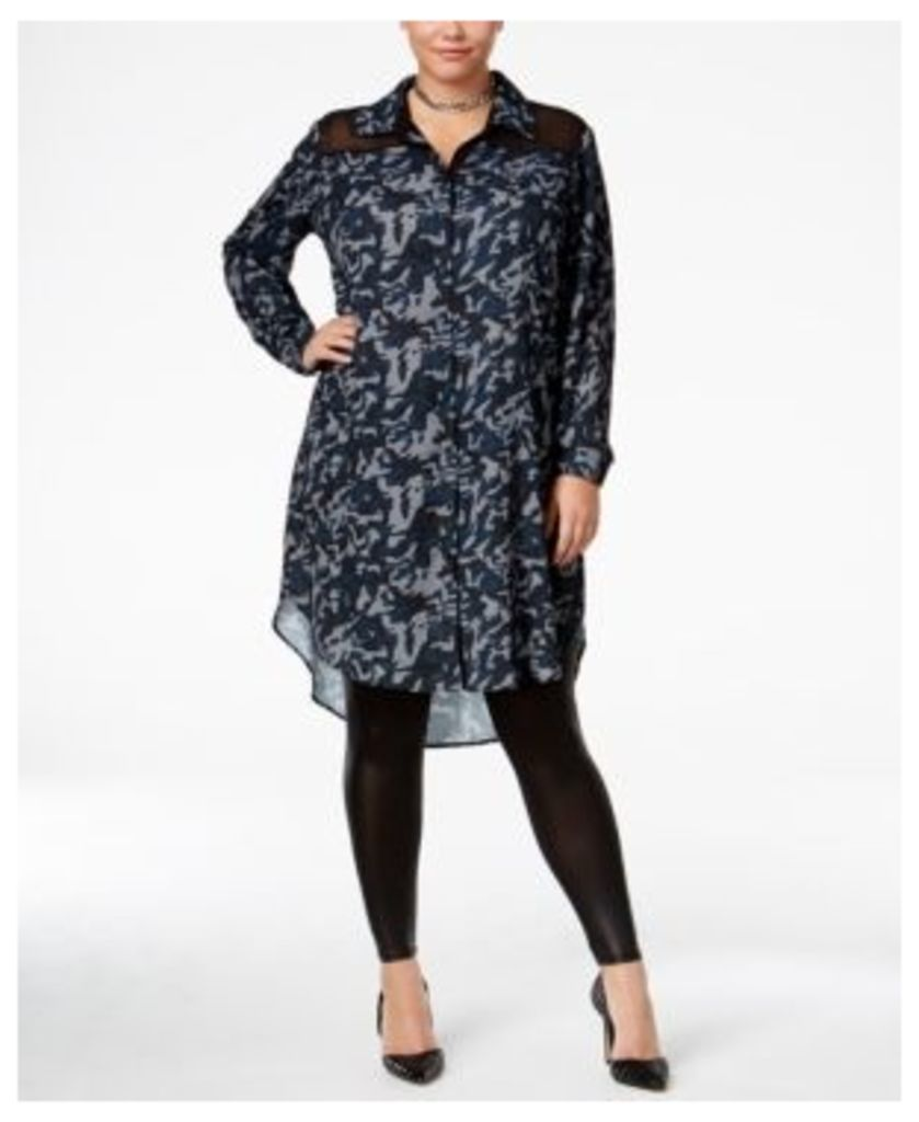 Standards and Practices Trendy Plus Size Solenn Shirtdress