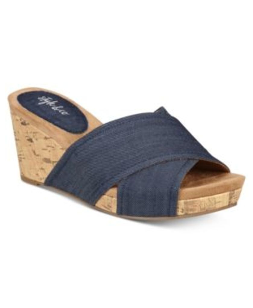Style & Co Jillee Crisscoss Slide Wedge Sandals, Only at Macy's Women's Shoes