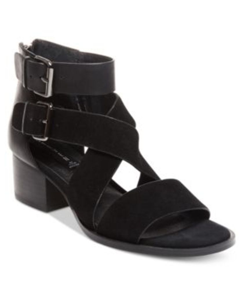 Steven By Steve Madden Elinda Strappy Block-Heel Sandals Women's Shoes
