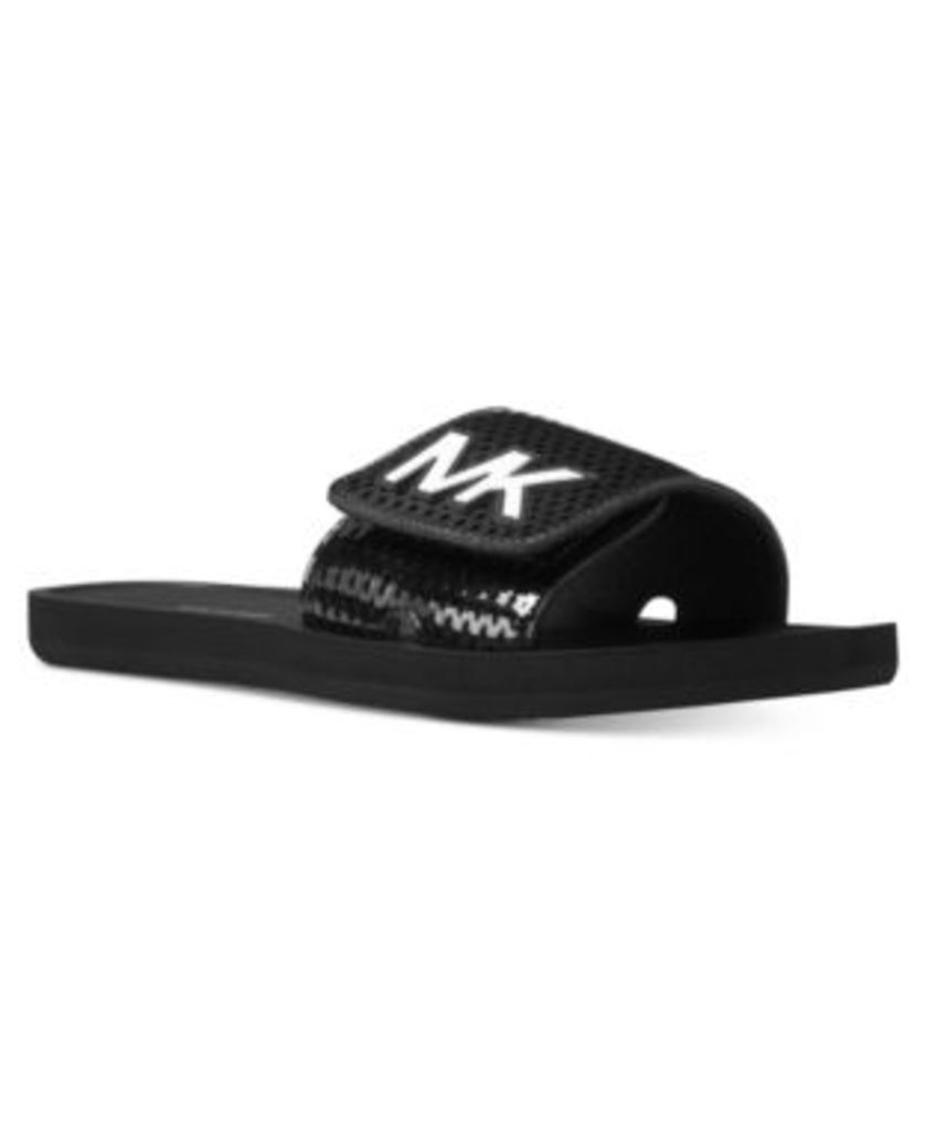 Michael Michael Kors Heidi Embellished Flat Slide Sandals Women's Shoes