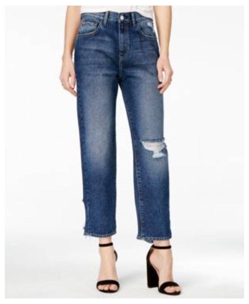 M1858 Frida Ripped Atlantic Wash Wide-Leg Jeans