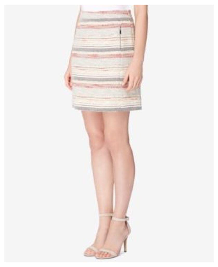Tahari Asl Zip-Pocket Tweed Skirt