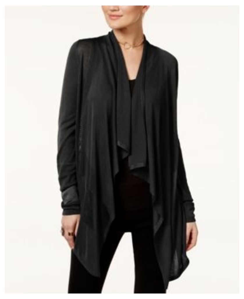 Inc International Concepts Petite Open-Front Draped Illusion Cardigan, Only at Macy's