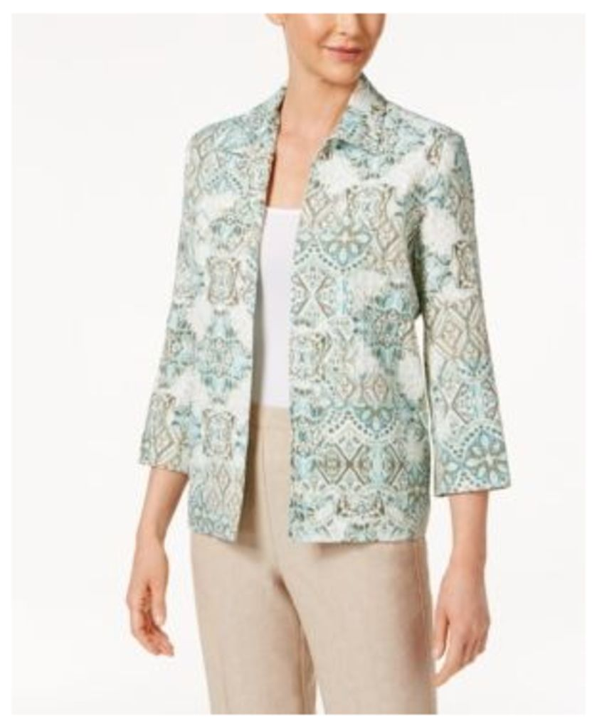 Alfred Dunner Ladies Who Lunch Printed Crinkled Jacket