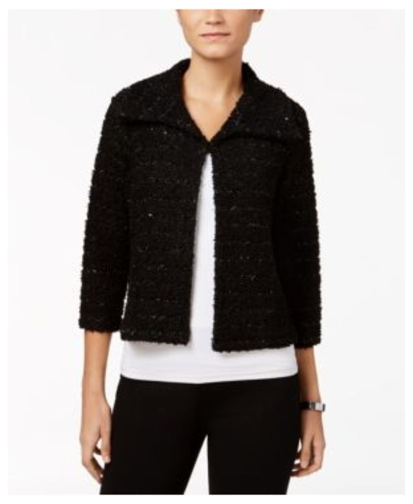 Jm Collection Cropped Boucle Jacket, Only at Macy's